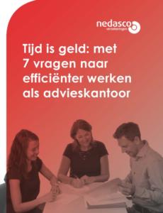 E-book 'Tijd is geld: met 7 vragen naar efficiënter werken als financieel adviseur'